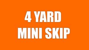 4 Yard Mini Skip